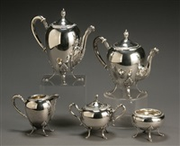 coffee and tea service (set of 5) by carlo mario camusso