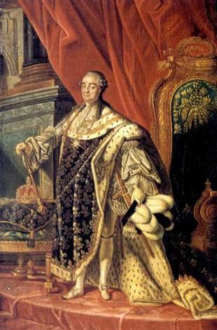 Portrait de Louis XVI en tenue de sacre by Antoine-François (Calet ...