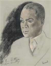 portrait of louis armstrong by jacob kramer