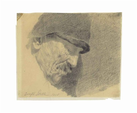 sketch of a miners head by joseph stella