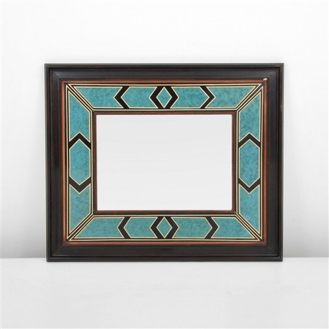 decorated mirror by maison jansen