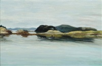 view of the barred islands ii by fairfield porter