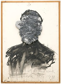 self portrait with lead mask by alfred leslie