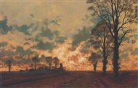november evening, northamptonshire by gerald coulson
