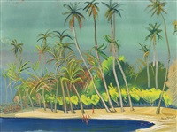 the blue bay, brazil by boris dmitrievich grigoriev