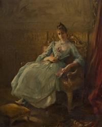 la jeune fille à la lecture by alexis vollon