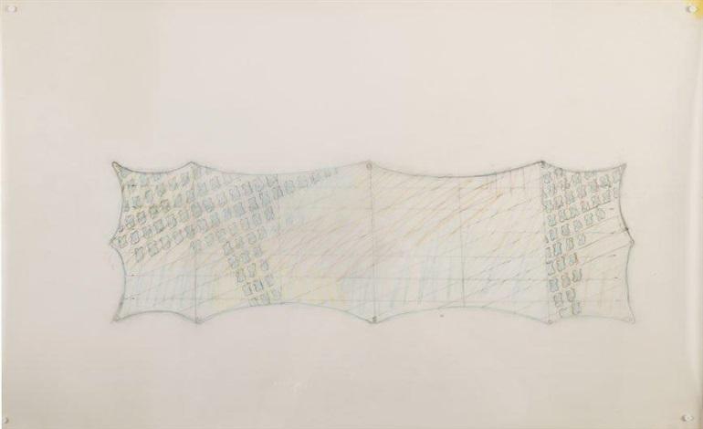 esquisse pour le plafond de la salle des pas perdus de lhôtel dieu à paris sketch by claude viallat