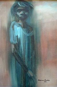 aboriginal girl by alan william baker