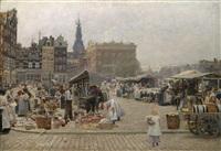 markt in amsterdam by hans herrmann