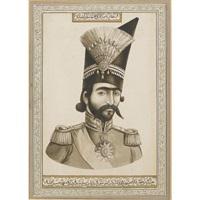 a portrait of nasr al-din shah qajar by mohammad hassan afshar