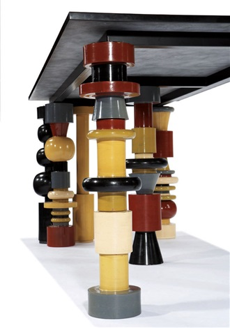 golden eye table by ettore sottsass
