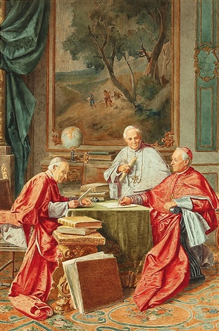 Image result for painting of three catholic cardinals
