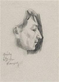 portrait d'un jeune homme (+ idem, verso) by henri evenepoel