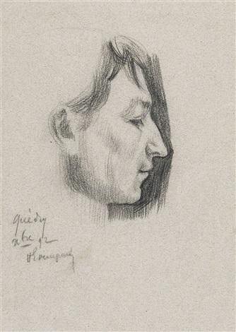 portrait dun jeune homme idem verso by henri evenepoel
