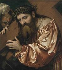 christ carrying the cross by romanino (girolamo romani)