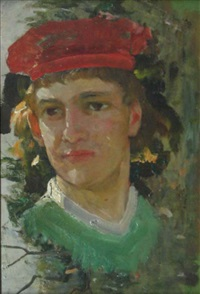 head - color study by francis newton