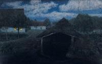 mondnacht iii, seehausen by fritz overbeck