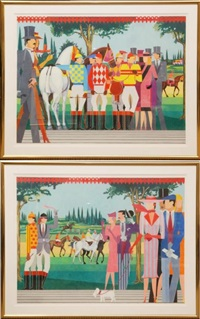 a day at the races (diptych) by giancarlo impiglia