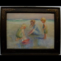 on the beach by mary alberta cleland