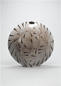 winter moon 1 - a flattened vase by james tower