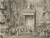 the coronation of emperor ferdinand i as king of lombardy-venetia, in the duomo in milan, 1 september by alessandro sanquirico