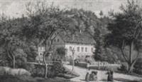 s,chsische landschaft mit villa by karl gottfried traugott faber
