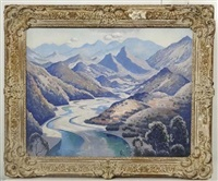 valley of the var, south of france beyond nice by norman lloyd