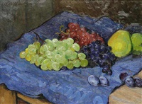 a still life with fruit by arnost hofbauer