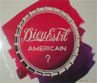 dieu est-il américain (preparatory study for expo invitation card) by daniel authouart