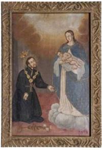 aparición de la virgen maría y el niño jesús a san cayetano by mexican school (17)