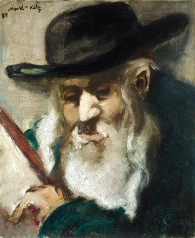 portrait of a rabbi by mané katz