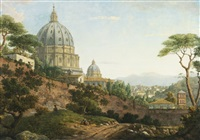 view of saint peter's, rome by william marlow