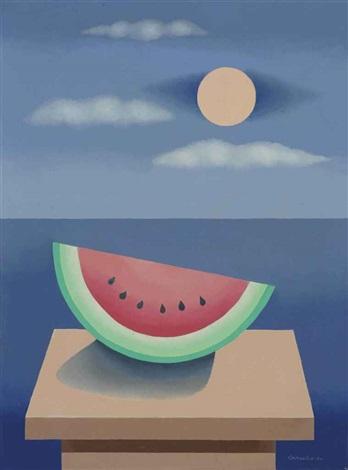 noche de sandía (from the series objetos sobre la mesa) by mario carreño