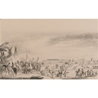 indian encampment by alfred jacob miller