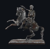 a model of george iv on horseback by edward hodges baily