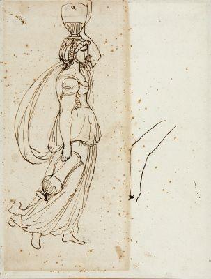 wasserträgerin sketch by andrea appiani