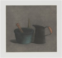 mortar and pestle with funnel by tomoe yokoi