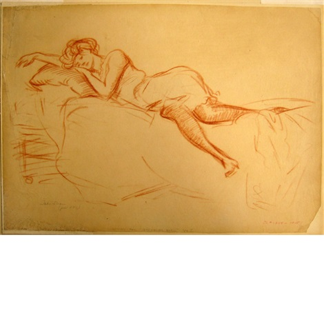 study for bachelor girl no. i by john french sloan