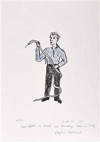 mann mit schlange by stephan balkenhol