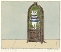 cat in a portable niche by edward gorey