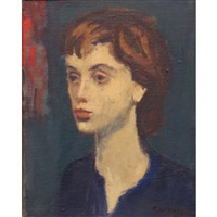 head of a woman by raphael soyer