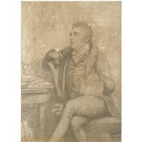 portrait drawing of samuel taylor coleridge by george dawe