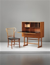 secrétaire and chair, model no. 1179 (2 works) by josef frank