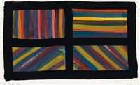 rectangles * bands of lines in four directions * star--five-pointed * happy new year (4 works) by sol lewitt
