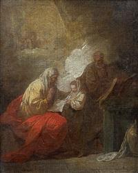 l'éducation de la vierge by louis joseph le lorrain