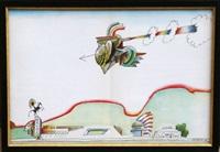 untitled (navajo motel) by saul steinberg