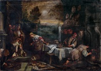 le christ chez marthe et marie (luc x, 38-42) by francesco bassano the younger