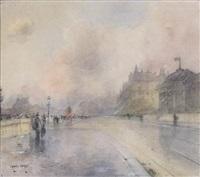la gare d'orsay et l'hôtel de salm sur le quai anatole france by francis garat