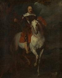 portrait équestre du marquis de moncade (after anton van dyck) by eugène delacroix