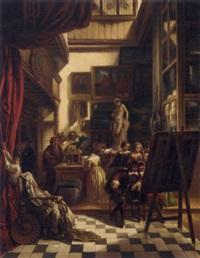 rembrandt's studio by louis coutenil